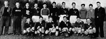 UBC varsity soccer team (1941) – Fred Saskai, 3rd from left back row Photo: UBC A.M.S./University Archives, Totem  (1941)